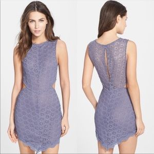 FREE PEOPLE 'Midnight Hour' Scalloped Lace Slip